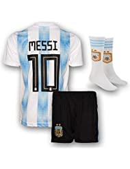 170174f40df Messi Jersey Argentina Home 10 Soccer Jersey   Shorts - Youth Football Kits  For Kids Boys
