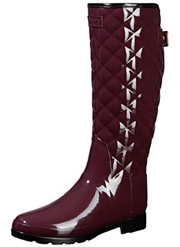 Original Refined Gloss Quilt Tall Black WFT1031RGL OXD, Botas de Agua, Mujer, Burdeos, 38 EU