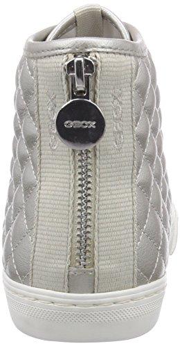 Geox D Giyo, Sneaker Alta Donna Grigio (Off White)