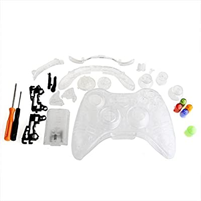 Clear Full Housing Shell Case Cover for Xbox 360 Wireless Controller from lgking supply