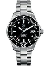 TAG Heuer Men's WAN2110.BA0822 Aquaracer Calibre 5 Stainless Steel Automatic Watch with Black Dial