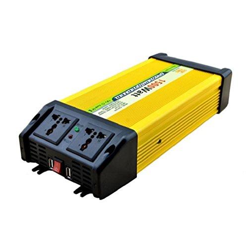 Solar PV KFZ Konverter Power Inverter Wechselrichter DC 12V bis 220V AC Solar PV Auto Konverter mit Zigarettenanzünder Adapter 1500W (Starter-pumpe Jump)