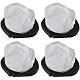 KEEPOW 4 Pack Dust Cup Filters Shark SV75Z Cordless Hand VAC SV780 SV726N, Replacement Part# XF769, XSB726N