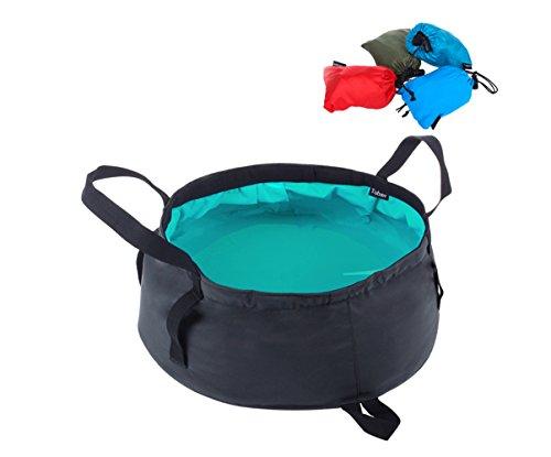 Ajusen wash esterno pieghevole da campeggio portatile folding basin
