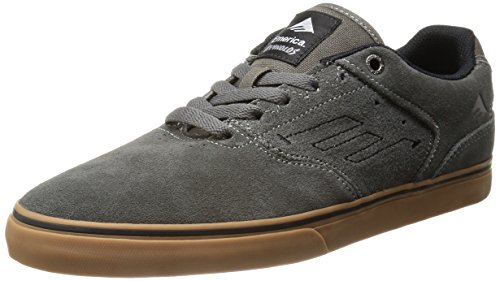 Emerica The Reynolds Low Vulc, Chaussures de skateboard homme Gris - Grigio(grey/white/gum)