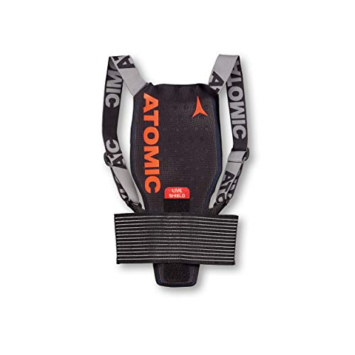 Atomic Kinder Ski-Rückenprotektor Live Shield Jr, Verstellbar, Größe L, schwarz, AN5205024L