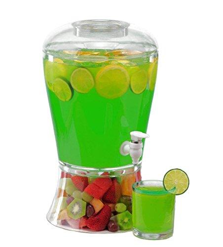 2 Gallon Cold Beverage/Drink Dispenser (2 Gallon Classic) by Happy Home -
