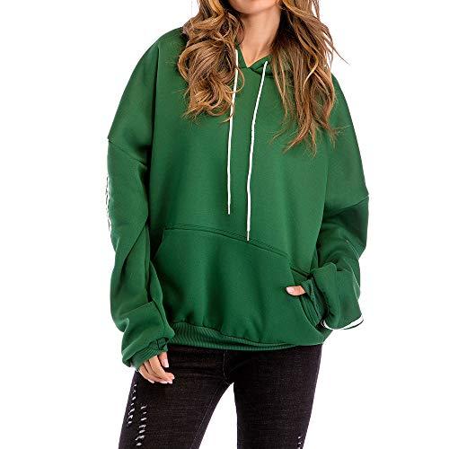 SanKidv Hoodie Pullover Damen Herbst Winter Hooded Sweatshirt Mode