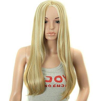 HJL-faux cheveux perruques 28 pouces longue vague blonds femmes synth¨¦tiques perruque