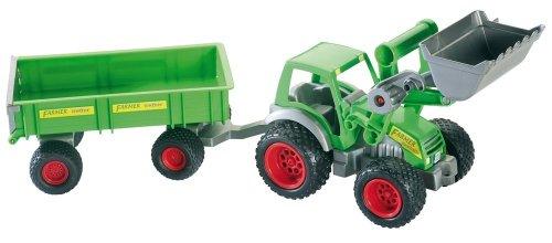 Wader 39202 - Traktor mit Frontlader und Anhänger 68 cm