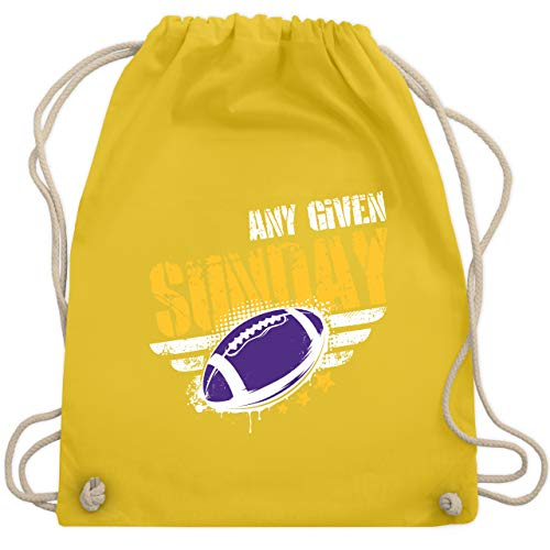 American Football - Any Given Sunday Football Minnesota - Unisize - Gelb - WM110 - Turnbeutel & Gym Bag Orleans Rose