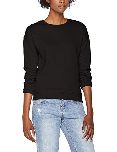 Urban Classics Damen Ladies Sweat Crew Sweatshirt, Schwarz (Black 7), Medium