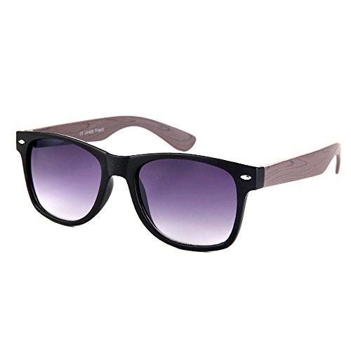 Ocona© occhiali, unisex, Wayfarer effetto Design e manico in legno, lilla