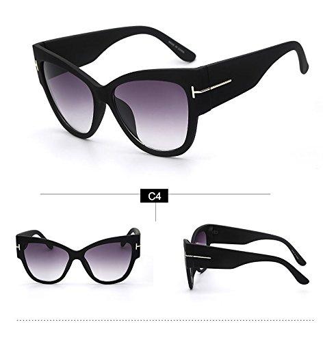 Aprigy Luxuxweinlese-Gradient Punkte Sonnenbrillen Tom High Fashion Designer-Marken f¨¹r Damen Sonnenbrillen Cateye [C4]