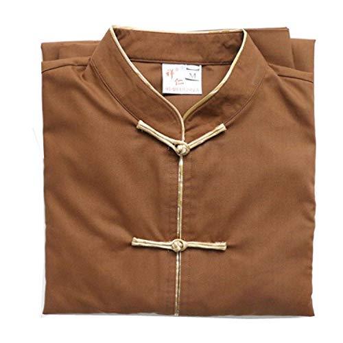 JTIH® Mönch Buddhismus Kleidung Mönch Mönch Kleidung Meditation Passen Taste FA-Konferenz Buddha Werkzeugbau (Set: Hosen + Oberteile) (1,XL) -
