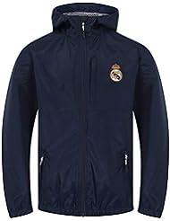 e922ceac3 Real Madrid - Chaqueta Cortavientos Oficial - para niño - Impermeable