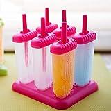 Modenny 6 Stücke Eis Popsicle Formen Kochen Werkzeuge Rechteckige Form Wiederverwendbare DIY Gefrorene Eis Pop Backen Formen