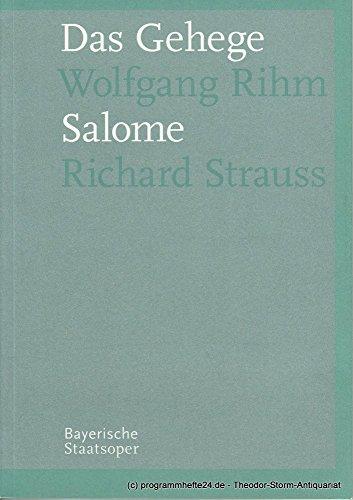 Programmheft Neuinszenierung DAS GEHEGE und SALOME. Premiere 27. Oktober 2006 Spielzeit 2006 / 2007 Programmbuch