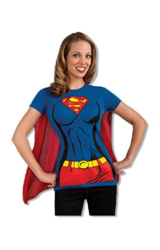 Horror-Shop Supergirl Shirt mit Cape M / 38 (Kostüm T-shirt Supergirl)