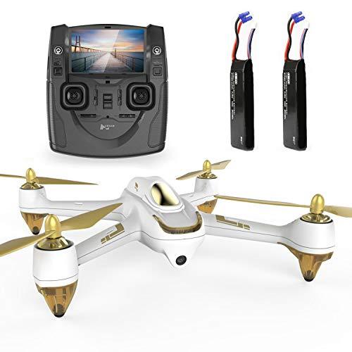 Hubsan H501S X4 Brushless Drohne GPS 1080P HD Kamera 5.8 Ghz FPV 2.4 Ghz RC Quadcopter Mit H901A Sender Weiß Standard Version Mit 2 Batterien Für Drohne -