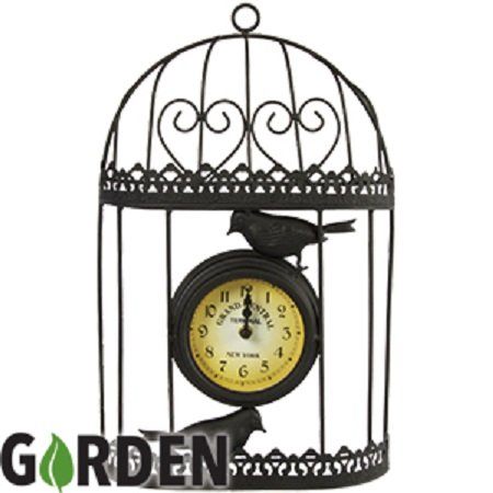 Stilvolle Uhr Garden Birdcage Grand Central -