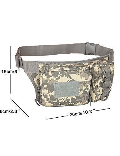 Menschwear Multipurpose Taktische Tasche Gürtel Taille Pack Tasche Military Taille Fanny Pack Telefon Tasche Gadget Geld Tasche Grün Tarnung 4