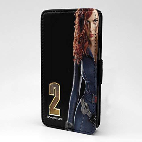Accessories4Life Real Life Marvel Super Heroes Bedruckt Telefon Flip Case Hülle für Samsung Galaxy S6 - Black Widow Iron Man 2 - S-T2588