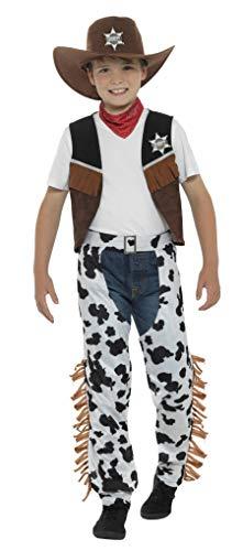 Smiffys Texan Cowboy Jungen Kostüm Rodeo Wild West Western Kinder Kostüm Outfit