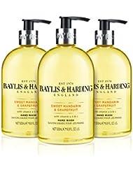 Baylis & Harding Sweet Mandarin and Grapefruit Hand Wash, 500 ml, Pack of 3
