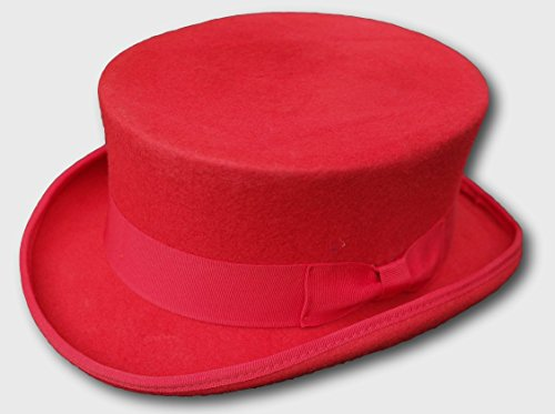 Thorness 100% Wool red Dressage Style Top Hat - L Approx 59cm / 60cm