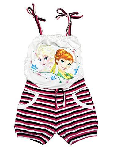 isprinzessinnen Sommer Mädchen Baby Freizeit Strand Kleid Rock Kostüm Kurzarm ärmellos Trägerkleid 100% Baumwolle von Disney mit Anna und ELSA Olaf Farbe Modell 15, Größe 104 ()
