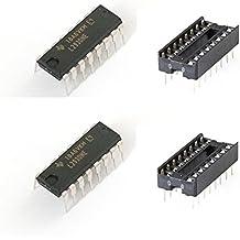 e4u L293D Four Channel H Bridge Moto Driver IC + IC Base - 2 Pieces