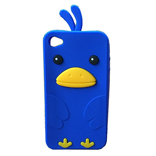 Coque iPhone 5s,Housse iphone 5, Hamyi Mignon poulet Coque Souple Silicone Gel pour Apple iPhone 5 et iPhone 5s (Gris) Bleu