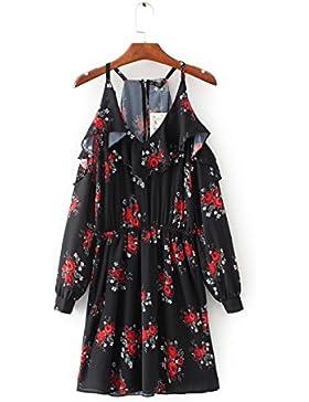 FLKJ Vestido Para Mujer Floral D