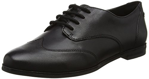 Clarks Damen Andora Trick Brogues, Schwarz (Black Leather), 42 EU