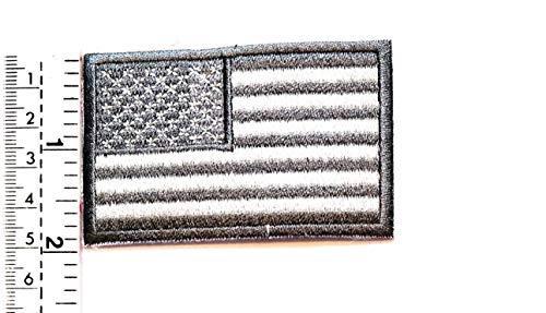 Parche bordado bandera nacional Estados Unidos gris