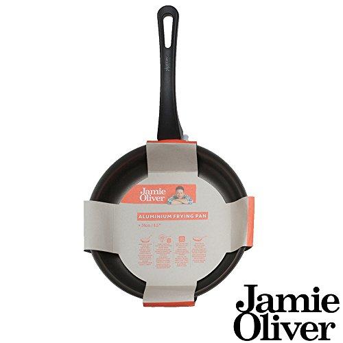 Jamie Oliver Bratpfanne 24 cm / Geeignet für alle Herdarten inklusiv Induktion / Hergestellt aus Premium Aluminium mit dreischichtige kratzfeste Antihaftbeschichtung (ILAG) / Spülmaschinegeeignet (24 cm)