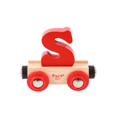 Bigjigs Rail Rail wagon caractère lettre S (un seul exemplaire fourni)