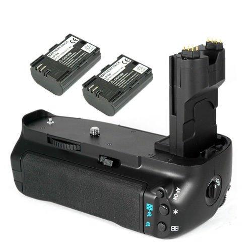 Batería de Repuesto Pack para Canon BG-E7Grip + LP-E6Batería (2Unidades) para Canon EOS 7d SLR Cámara