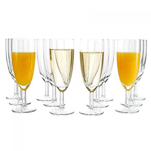 Van Well 96er Set Sektglas Royalty Standard, 18 cl, Ø 50 mm, H 160 mm, Sektflöte, Kelchglas, Champagner-u. Prosecco-Glas, Partyglas, glasklar, Gastronomie