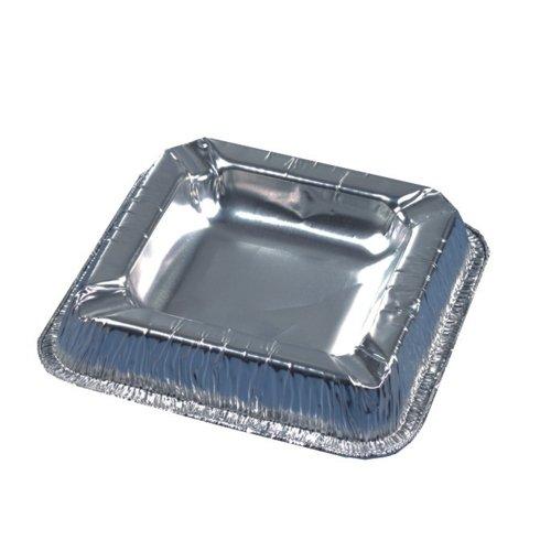 (PAPSTAR Alu-Aschenbecher/14580 12,5x12,5cm silber Aluminium 70my Inh.10)