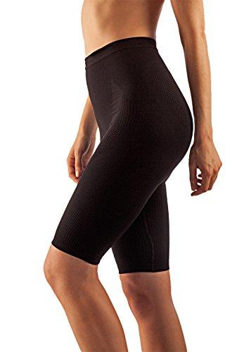 FarmaCell 312 (Negro, S/M) Faja pantalon moldeadora y contenitiva con efecto masajeador y anti-celulitis