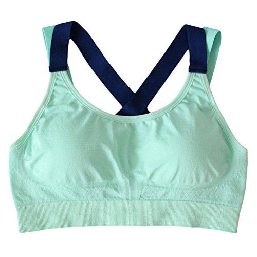 Gazechimp Sport Soutien Gorge À Bretelles Femme Accessoire Vêtement Pour Gym Yoga Confortable Haut Vert