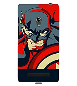 printtech Superhero Avengers Shield Back Case Cover for Asus Zenfone 5::Asus Zenfone 5 A500CG