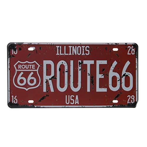 Targa vintage in metallo da parete con auto americana, decorazione per garage, cas