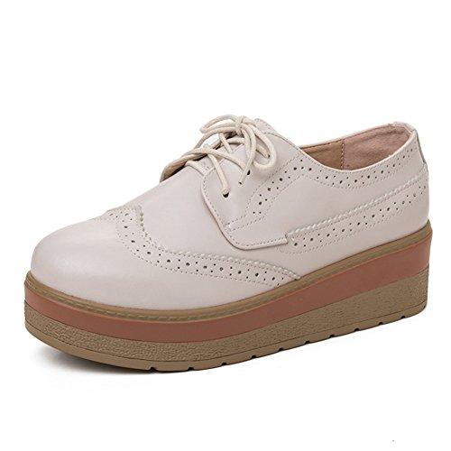 XTIAN , chaussures compensées femme Beige