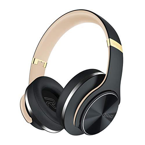 DOQAUS Casque Bluetooth sans Fil, [Jusqu'à 52 Heures] Pliable Casque Stéréo sans Fil Hi-FI, Protège-Oreille Mous de Protéine, Microphone intégré&mode filaire, mode EQ, pour PC/phone/TV/Tablette (Gris)