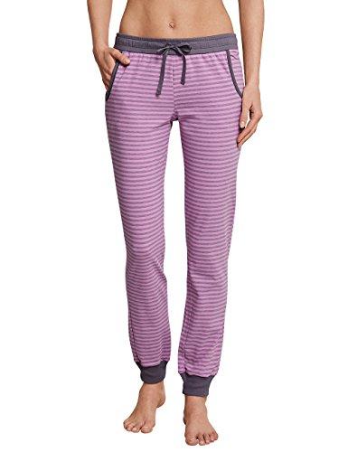 Schiesser Damen Mix & Relax Jerseyhose lang Schlafanzughose, Rot (Pink 504), 40 - Herrliche Gerippte Jersey