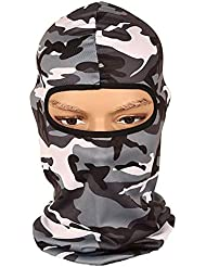 Verlike Balaclava Breathable Motorcycle Face Mask Lightweight Adjustable Full Face Mask for Skiing, Cycling, Running, Fishing, Outdoor Tactical training, Wind Dust Pollution Rain Sun Protection