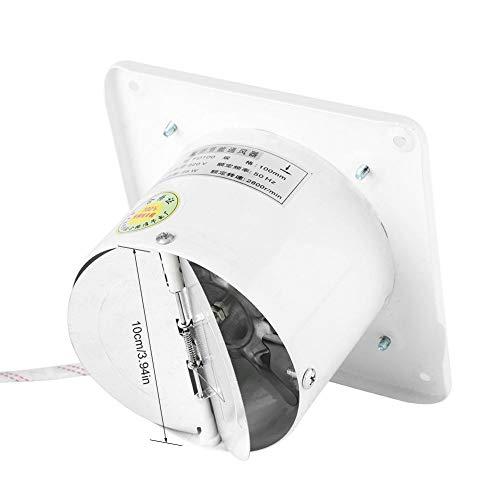 4 Zoll Abluftventilator Wandabluftventilator, Acogedor 25W 220V an der Wand befestigter Fensterlüfter Radialventilator Badlüfter, Super Silent, Home-Badezimmer-Küche